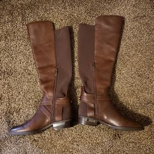 Vince Camuto Shoes - Vince Camuto Brown Knee High Paton Boots